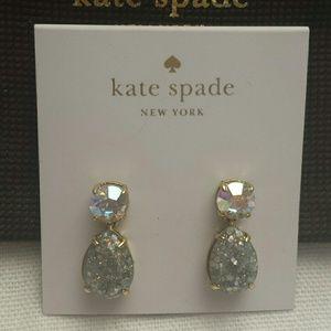 Kate Spade NWT Shine on Glitter Earrings